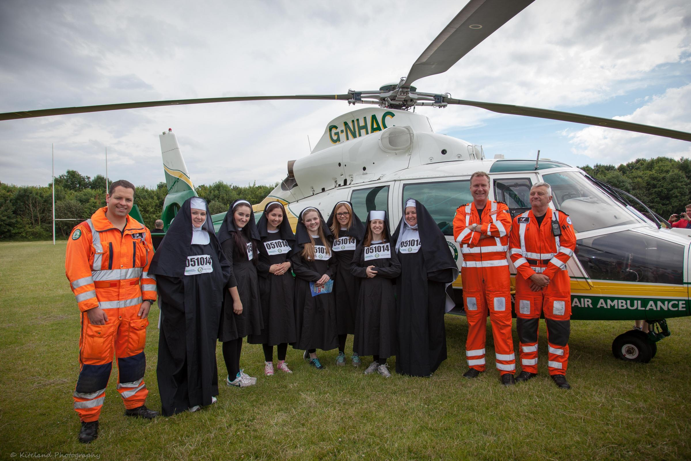 NUN RUN: People are being encouraged to dress up as nuns and run 5k to raise money for the Great North Air Ambulance Service. Picture: Peter Springhall