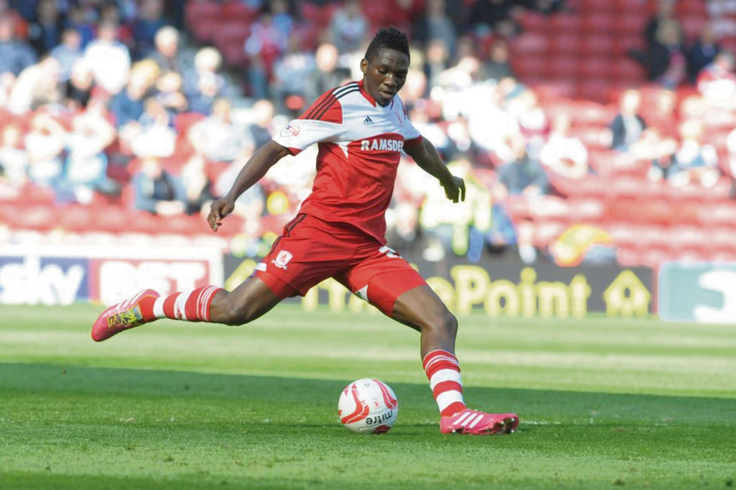 BACK AT BORO: Kenneth Omeruo has re-signed for Middlesbrough on a season-long loan