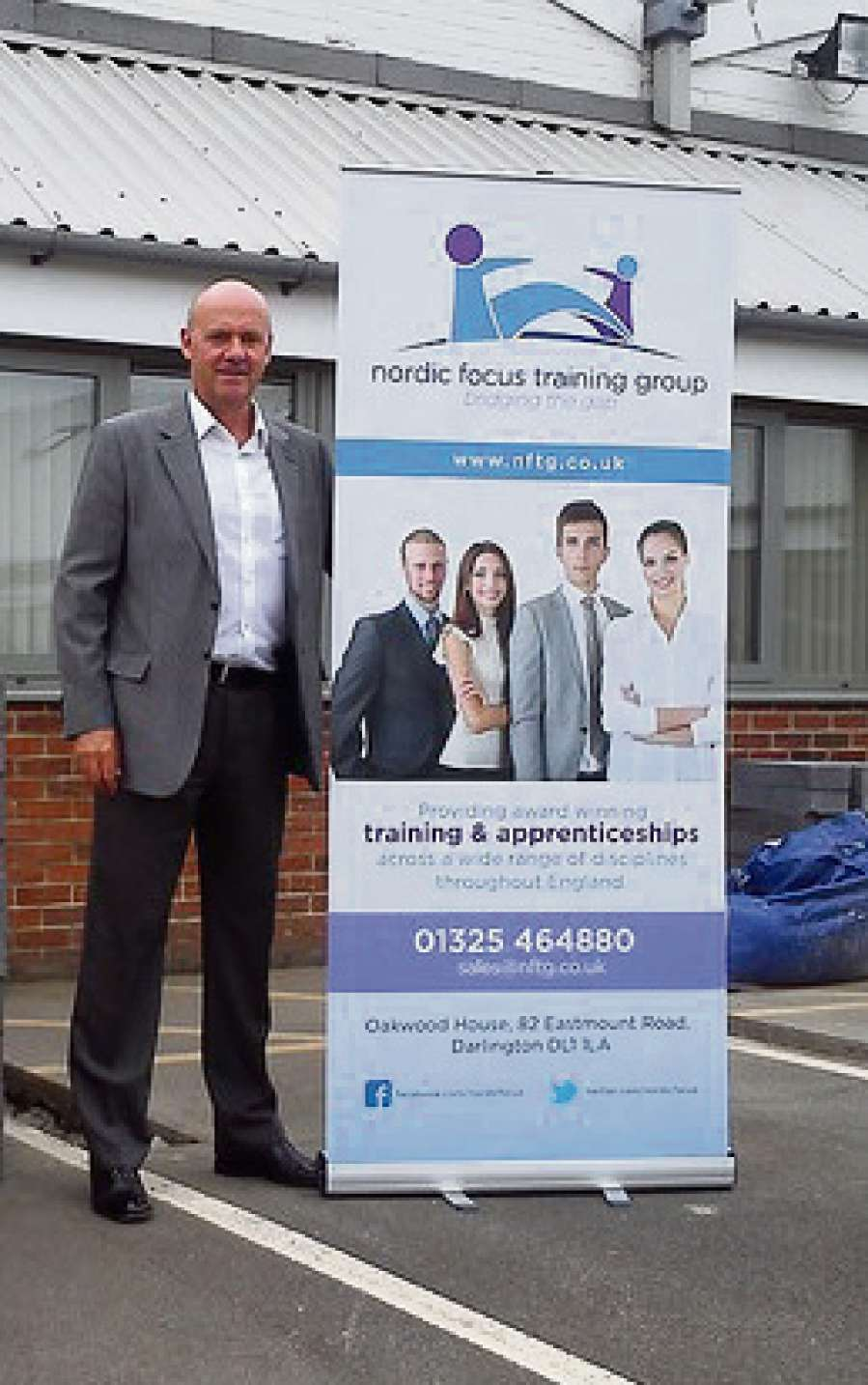 NEW ACADEMY: Peter Robinson, chairman of the Nordic Focus Training Group, outside their new training academy