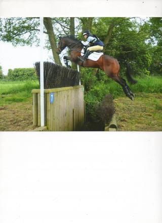 RIDING HIGH: Storm Straker, who has been selected for the British squad for the European junior show jumping competition
