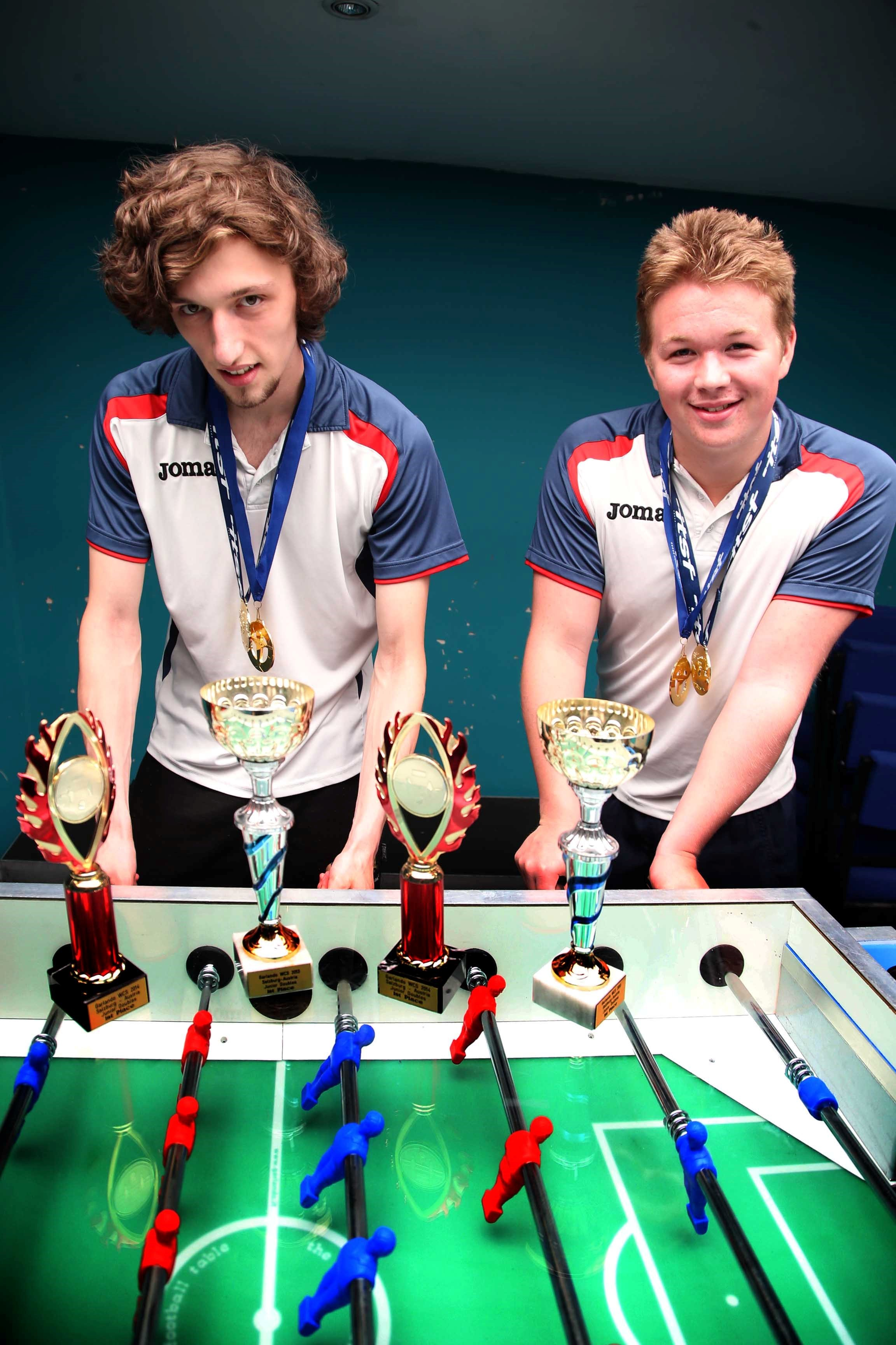 Teen table football champs from Darlington retain their title in Austria