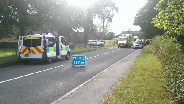 ROAD ACCIDENT: A woman was knocked off her bike near Bedale on Sunday evening.