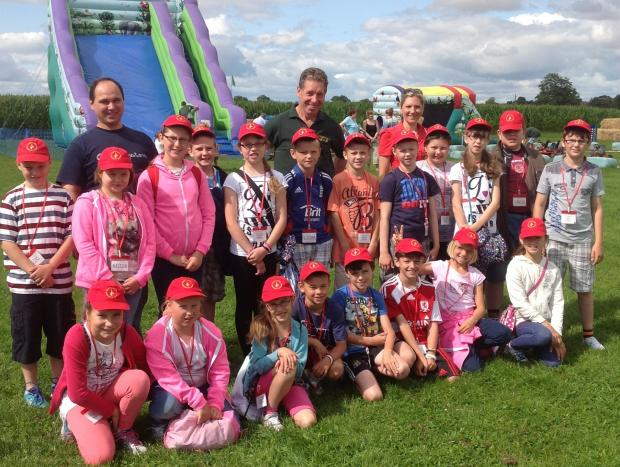 MAZE FUN: Chernobyl youngsters enjoying their North Yorkshire day out.