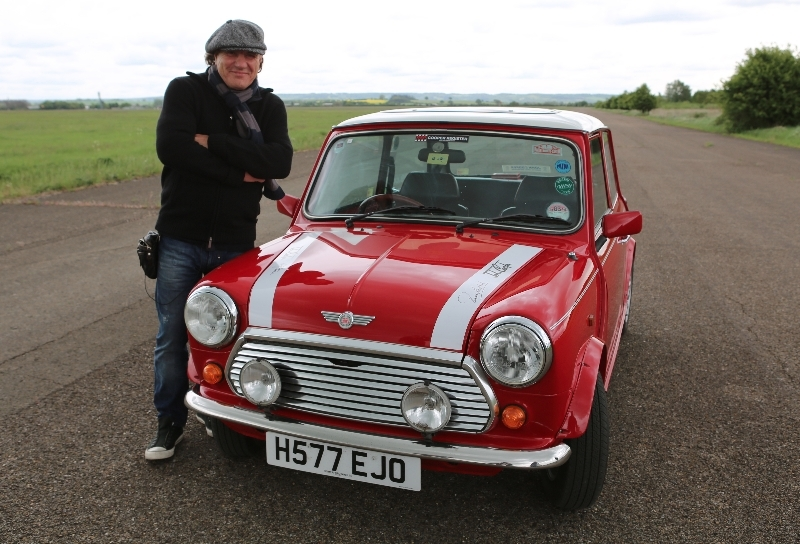 HIGHWAY TO CROFT: Brian Johnson with his 1964 Mini Cooper