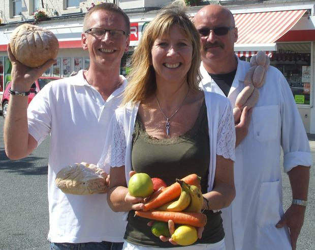 LOCAL FOODIES: Ed Trewhitt, Andrea Havard and Mike Gosnay gearing up for the Saltburn Food Festival