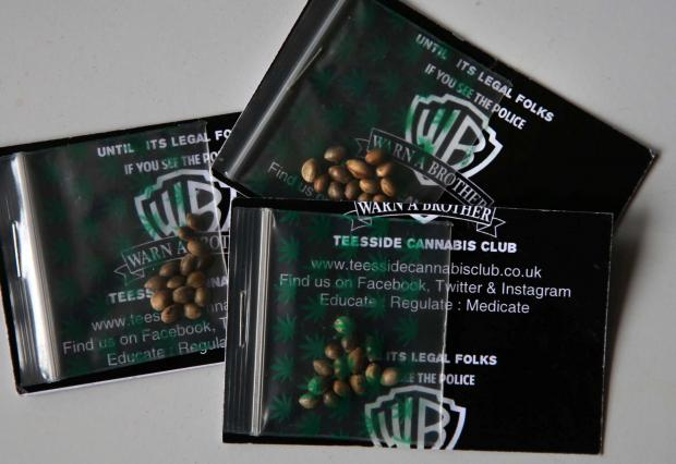 WEED SEED: Plastic packs of cannabis seeds.