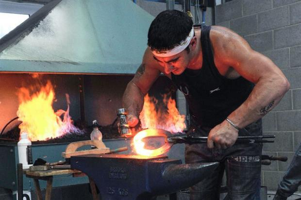 HOT WORK: A farrier competes at last year's Countryside Live.