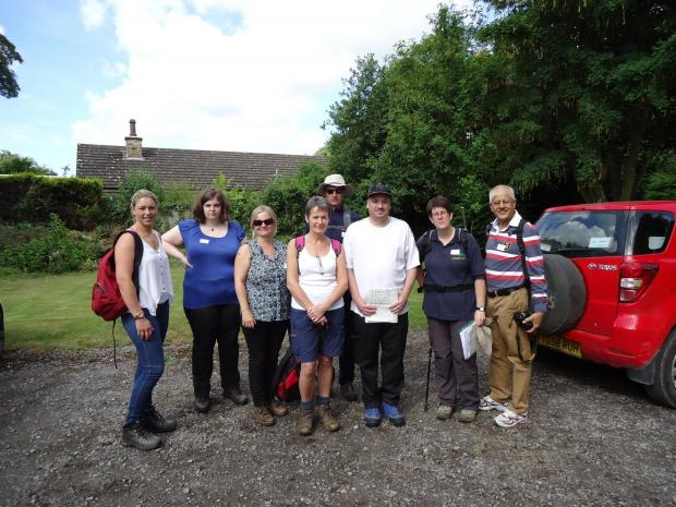 GREAT OUTDOORS: Group leaders Lucy Borthwick, from Hambleton and Richmondshire Young Carers; Emily Harbron from A1 Community Works; Maria Hamilton, Home-Start Richmondshire; Kerry Ellis, Home-Start Richmondshire; Kevin Pellat, Across in the Woods; Stuart