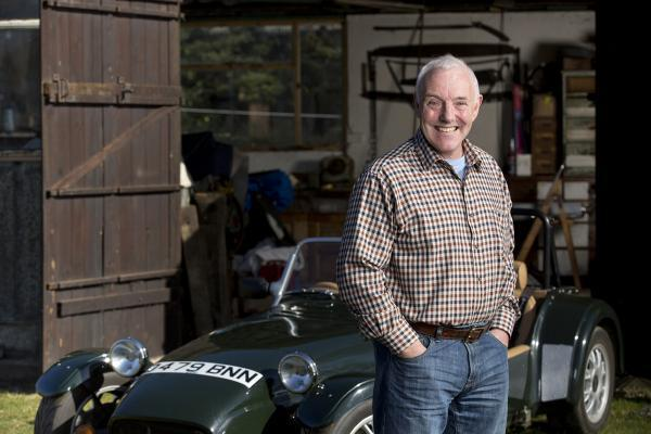 PROFITS: Chris Bradley and his beloved Westfield car