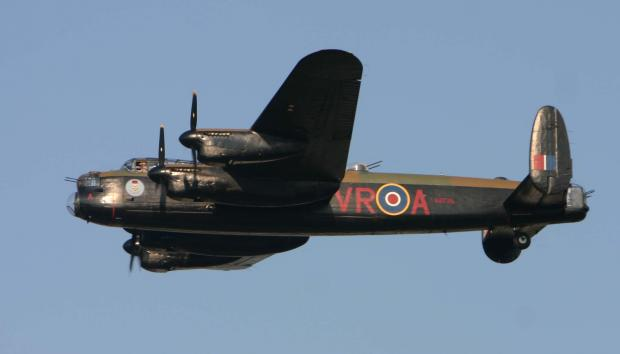 ICONIC CRAFT: The Mynarski Memorial Lancaster is one of only two flightworthy Lancasters in the world