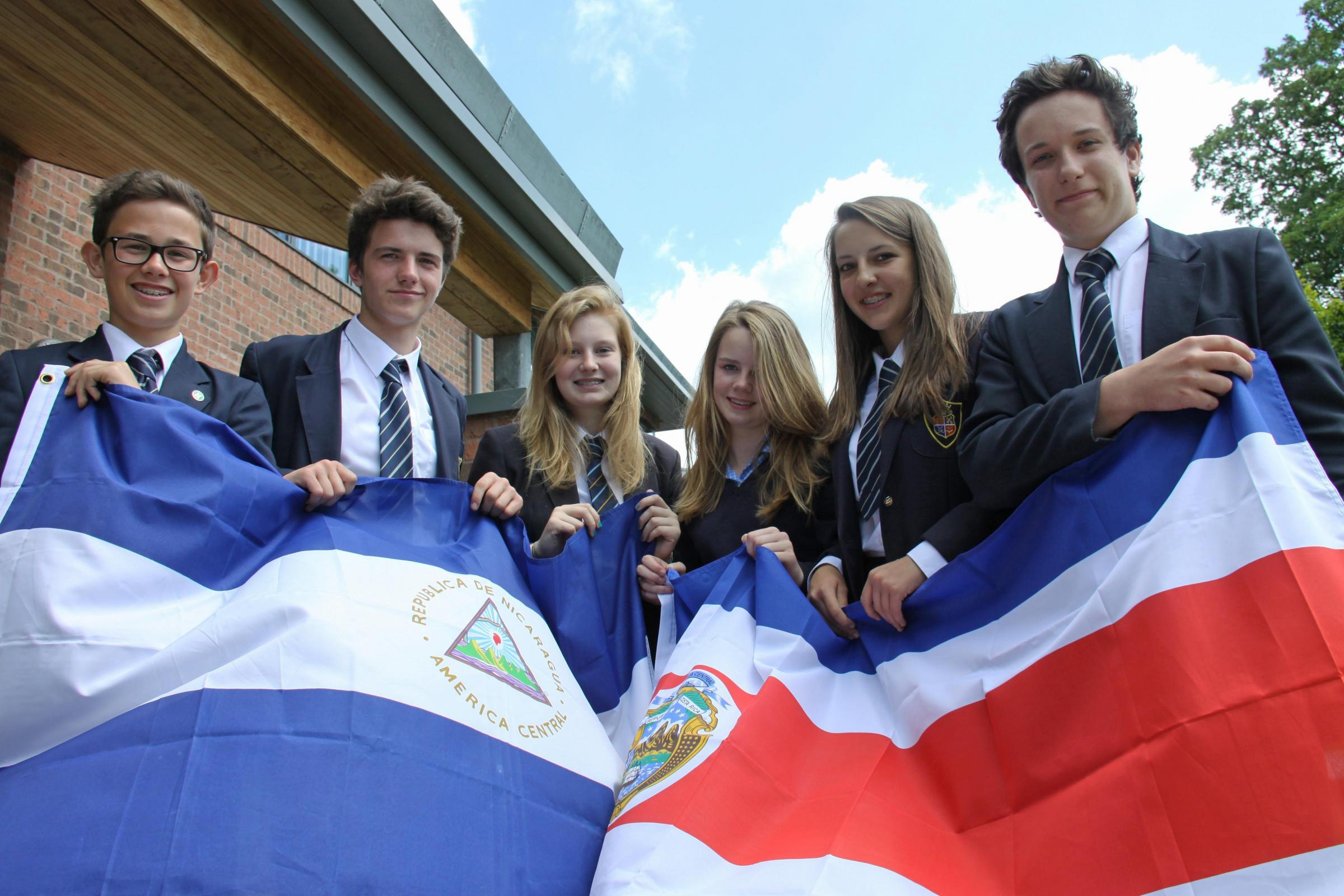 ADVENTURE-BOUND: Some of the students from Ripon Grammar School who are spending four weeks in Nicaragua and Costa Rica this summer, (L-R) Patrick Moon, Josh Belward, Lauren Pybus, Erin Fowler, Lucy Kettlewell and Will Stobbs.
