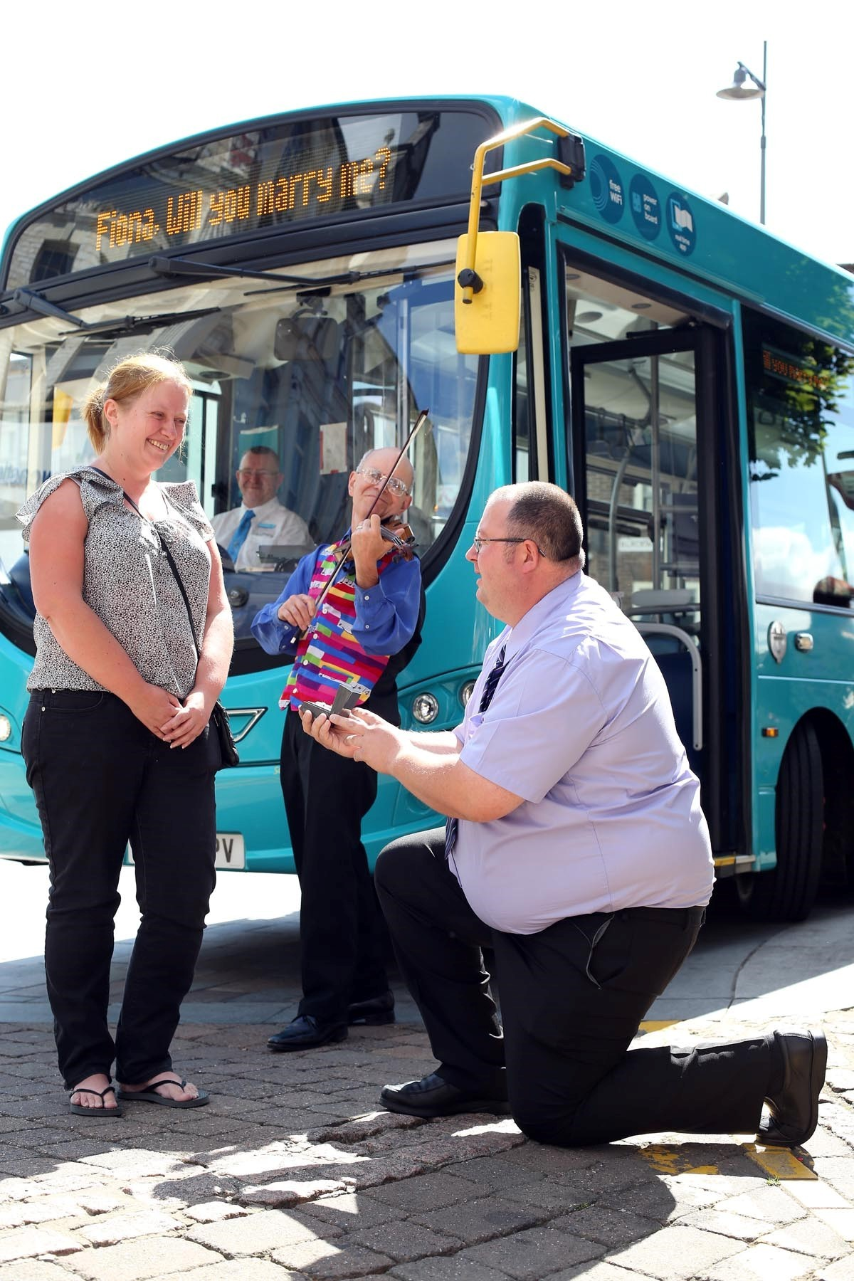 Woman driven to tears by quirky bus proposal