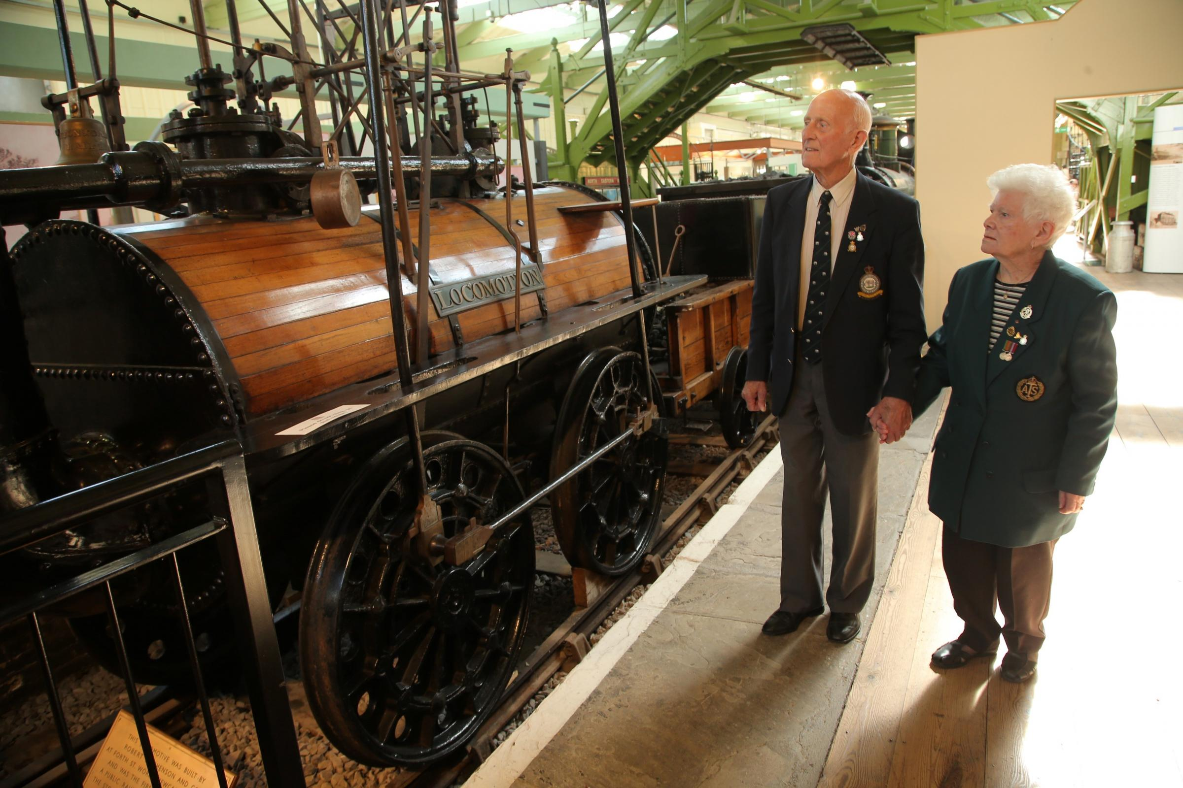 War veteran causes a stir after announcing he is a distant relative of George Stephenson