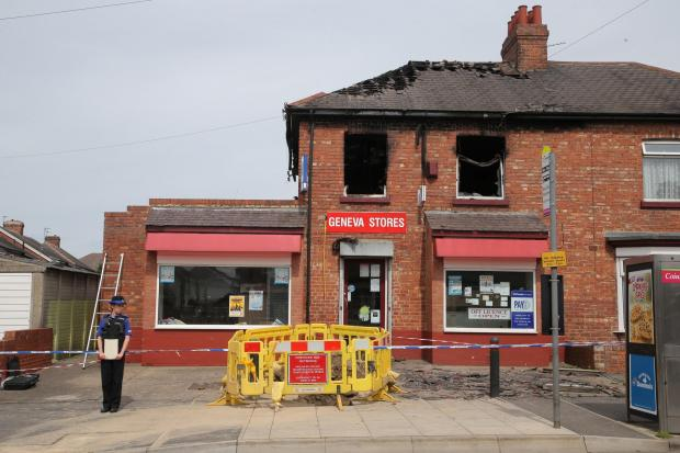 FIRE SCENE: The aftermath of the fire on Geneva Road, Darlington         Picture: ANDY LAMB