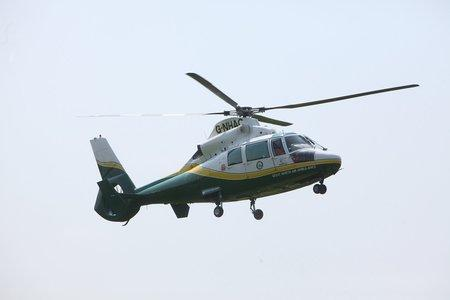 FLYING RESUE: The Great North Air Ambulance Service attended the scene of the crash near  Raby Hunt Inn in Summerhouses, near Gainford, County Durham