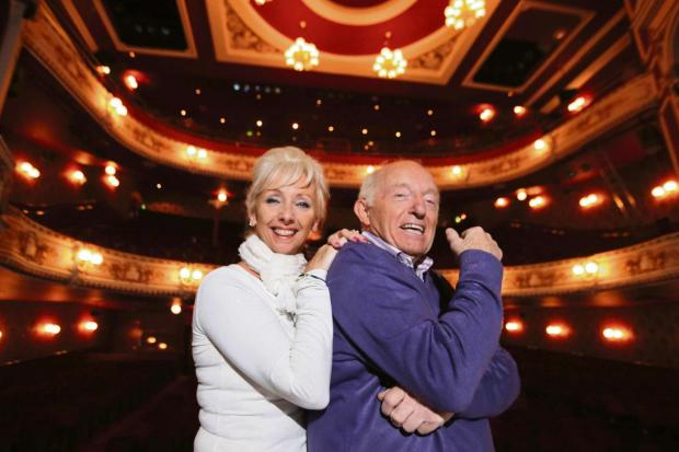 Paul Daniels and Debbie McGee pictured during an appearance at Darlington Civice Theatre last year.