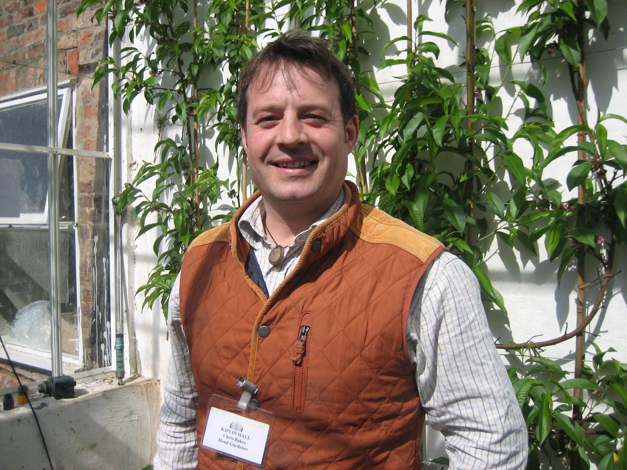 GREEN FINGERS: Head gardener Chris Baker will lead the workshop.
