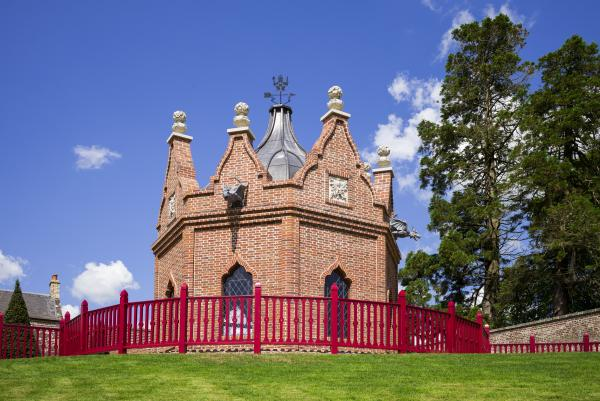 HIGH PRAISE: The complex Belvedere Folly designed by Prince Charles