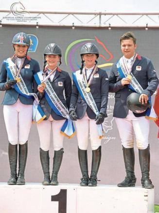 WIN: The GB team, who overcame tough competition
