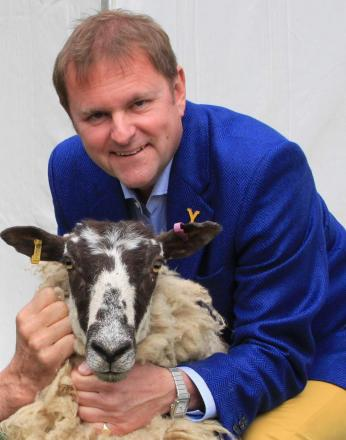 SHOW GUEST: Farmer and Welcome to Yorkshire chief executive Gary Verity with one of the woolly stars of the show.