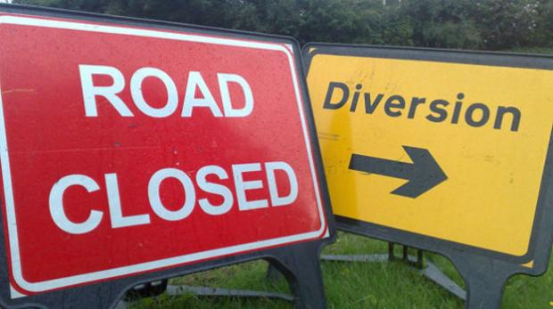NO ENTRY: A section of the A67 will be closed for resurfacing