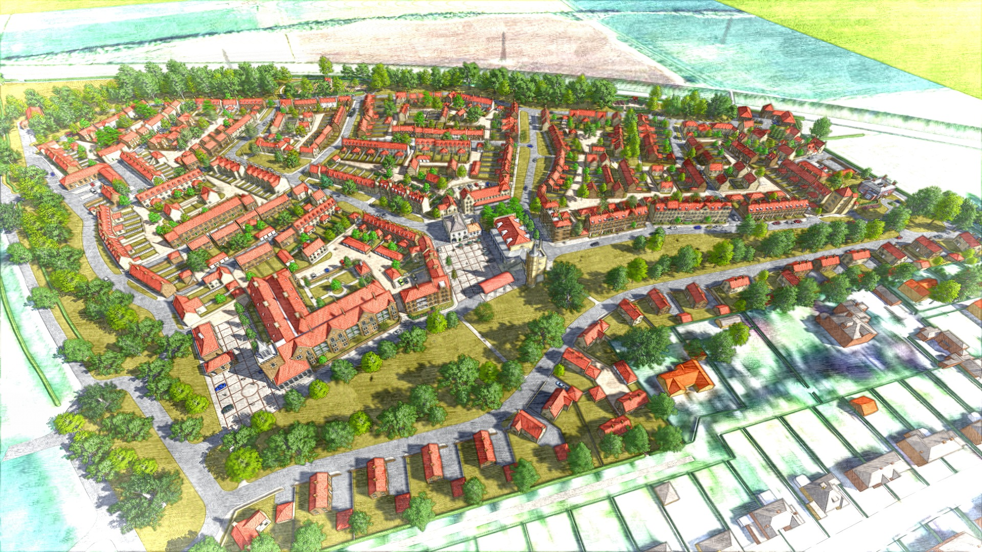 ESTATE PLAN: An artist's impression of the High Malton development