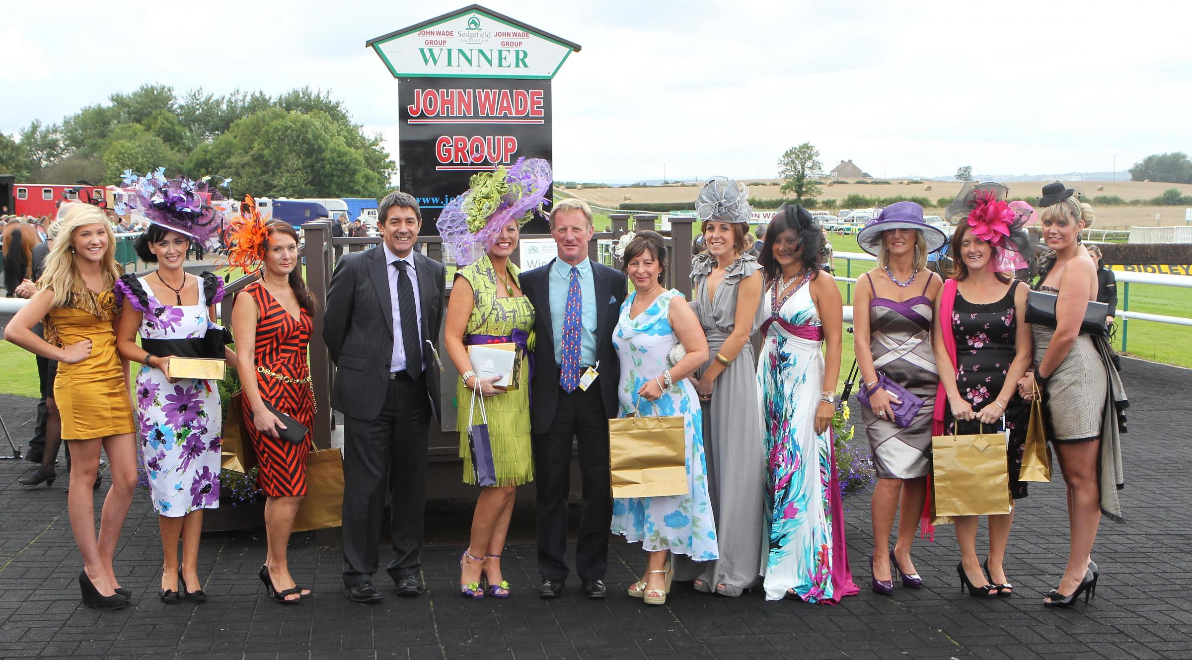 BEST DRESSED: Guests show off their outfits at a previous ladies evening at Sedgefield Racecourse