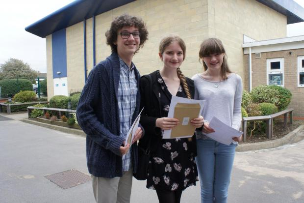 THE A-TEAM: Jack Parker, Emma Turner and Tabitha Gillard at Teesdale School