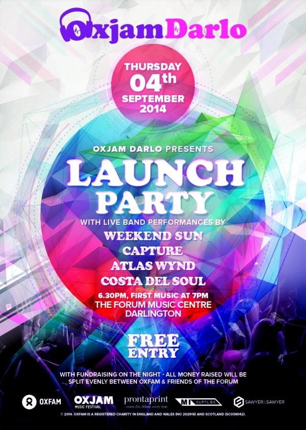 LAUNCH PARTY: Four bands will perform live at a launch party next week for a music festival in Darlington.