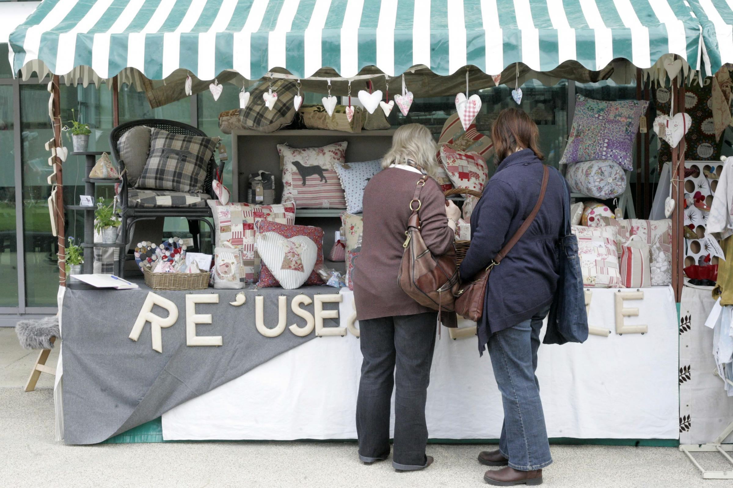 FLASH BACK: A stall at last year's Festival of Thrift, at Lingfield Point, in Darlington Picture: ANDY LAMB