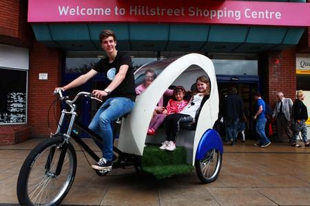 RICKSHAW RIDE: Hillstreet Shopping Centre in Middlesbrough celebrates successful summer with free rickshaw rides for customers pictured Julie Pickering with her niece Mya Graham, five, and daughter Emily, eight. Picture:SARAH CALDECOTT