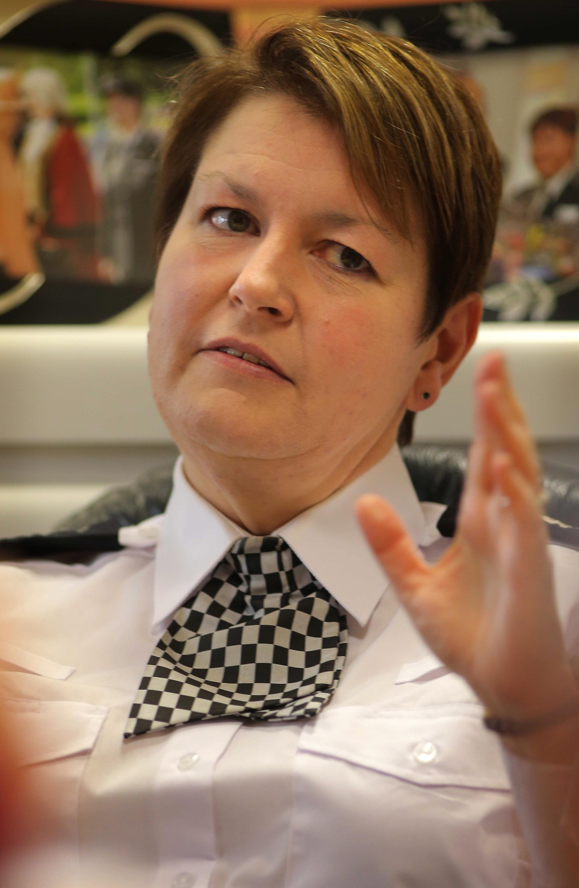 Cleveland Police chief Jacqui Cheer interviewed on her two year anniversary on Teeside. (9791493)