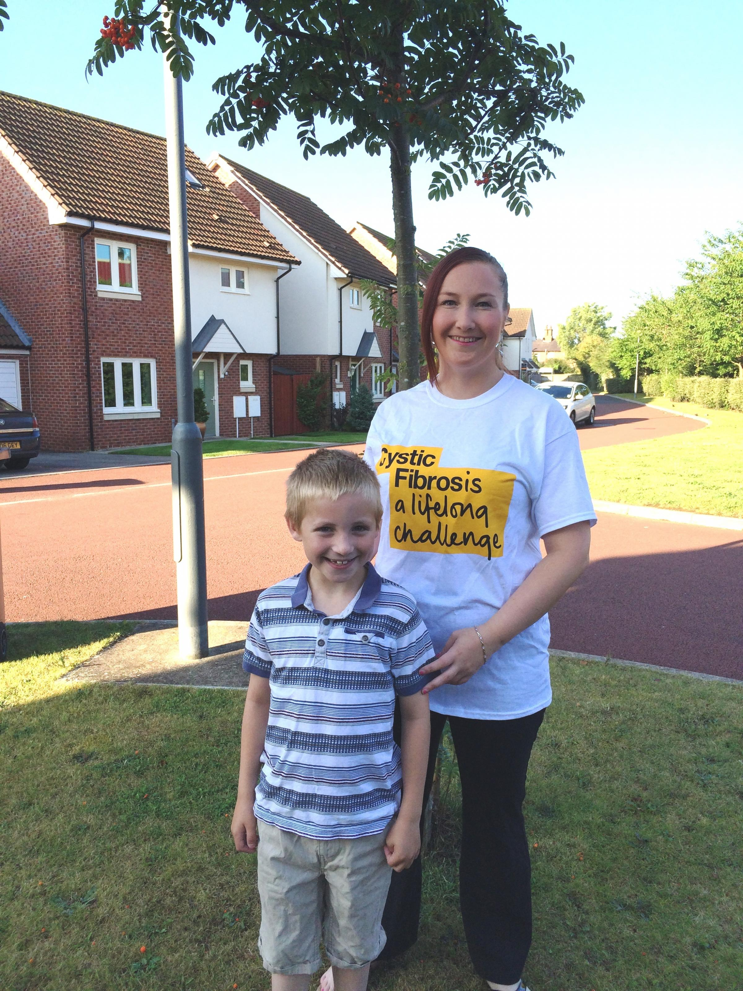 MOUNTAIN CHALLENGE: Emma Smith with her son Jack. Emma will be climbing Ben Nevis to raise money for the Cystic Fibrosis Trust which helps cystic fibrosis sufferers like her son Jack