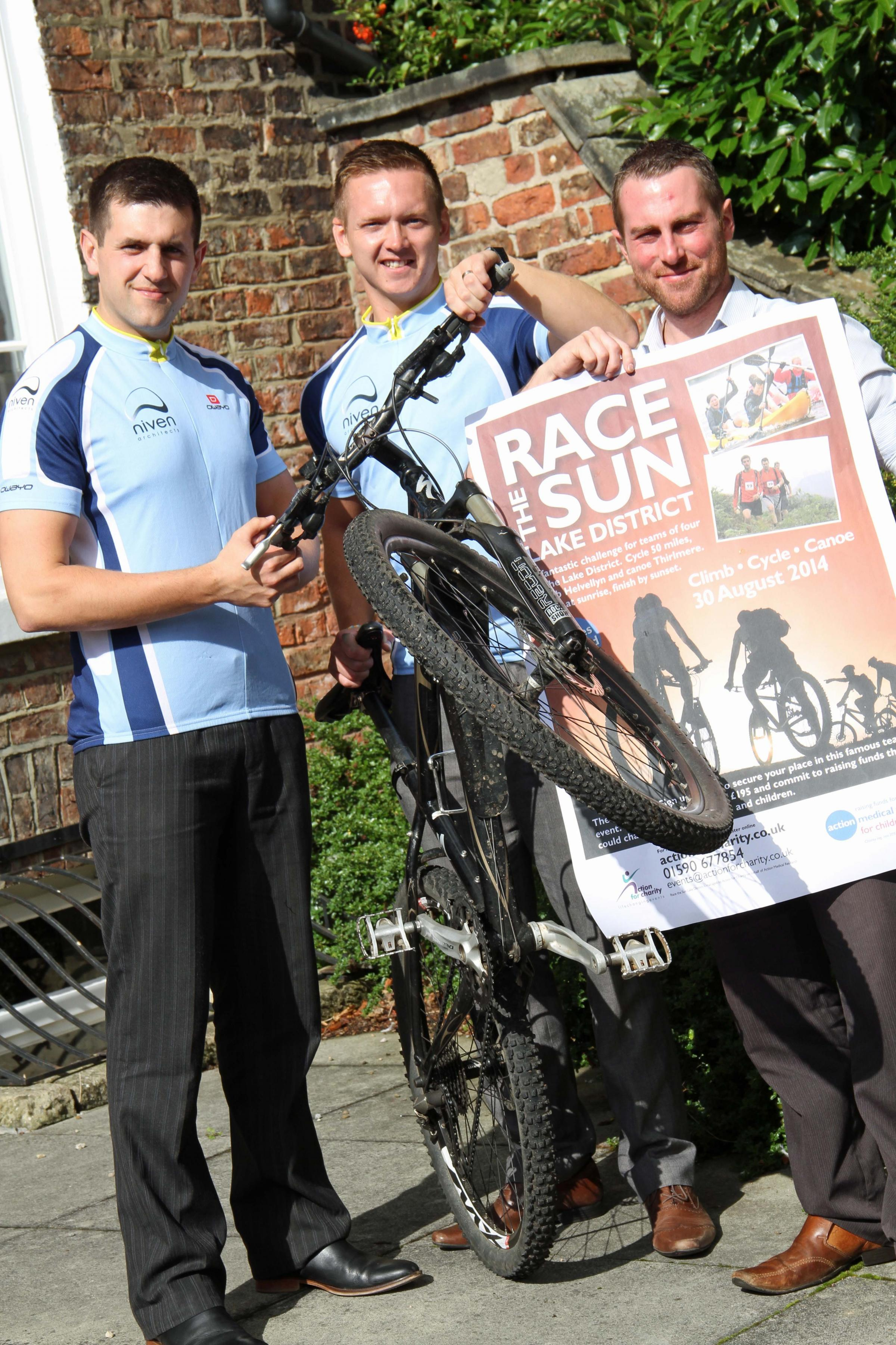 Architect team will cycle, canoe and climb for charity
