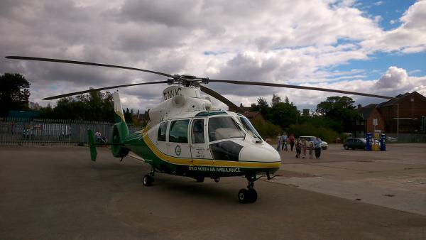 The Great North Air Ambulance at the scene