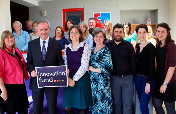 ELDERLY INVESTMENT: North Yorkshire County Councillor Don MacKenzie (pictured with logo) with some of the group leaders for the new Innovation Fund projects