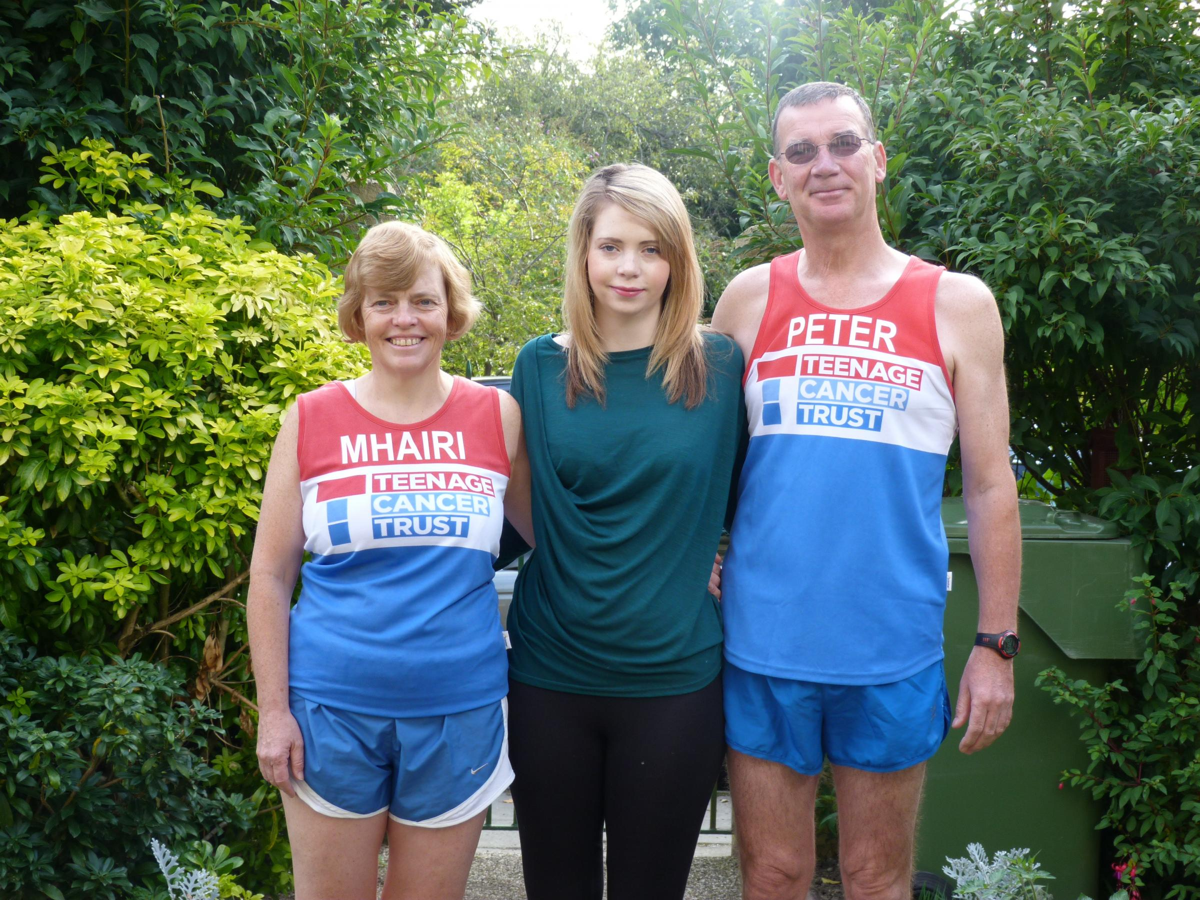 Mhairi and Peter McTiernan of Middlesbrough will spend their 23rd wedding anniversary taking part ion the Great North Run to raise money for the Teenage Cancer Trust which has treated their daughter Morag since she was diagnosed with breast cancer age 19