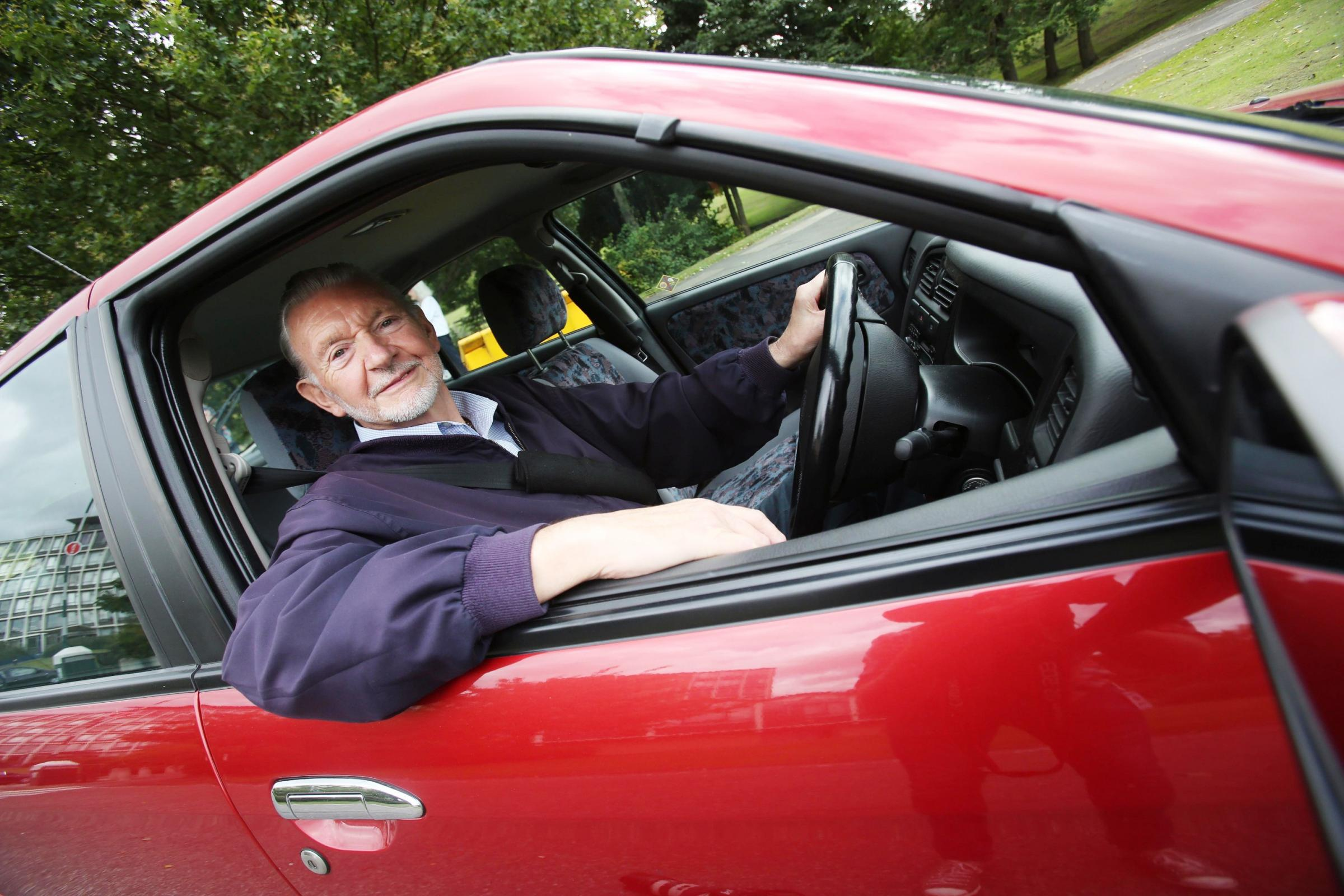 SAFE STANDARD: Terence Otter behind the wheel