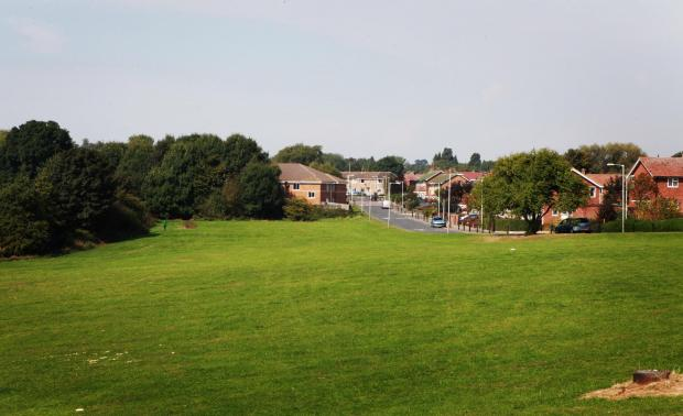 HOMES PLAN: The green space off Hammond Drive, in Skerne Park, where Darlington Borough Council plans to build social housing      Picture:SARAH CALDECOTT