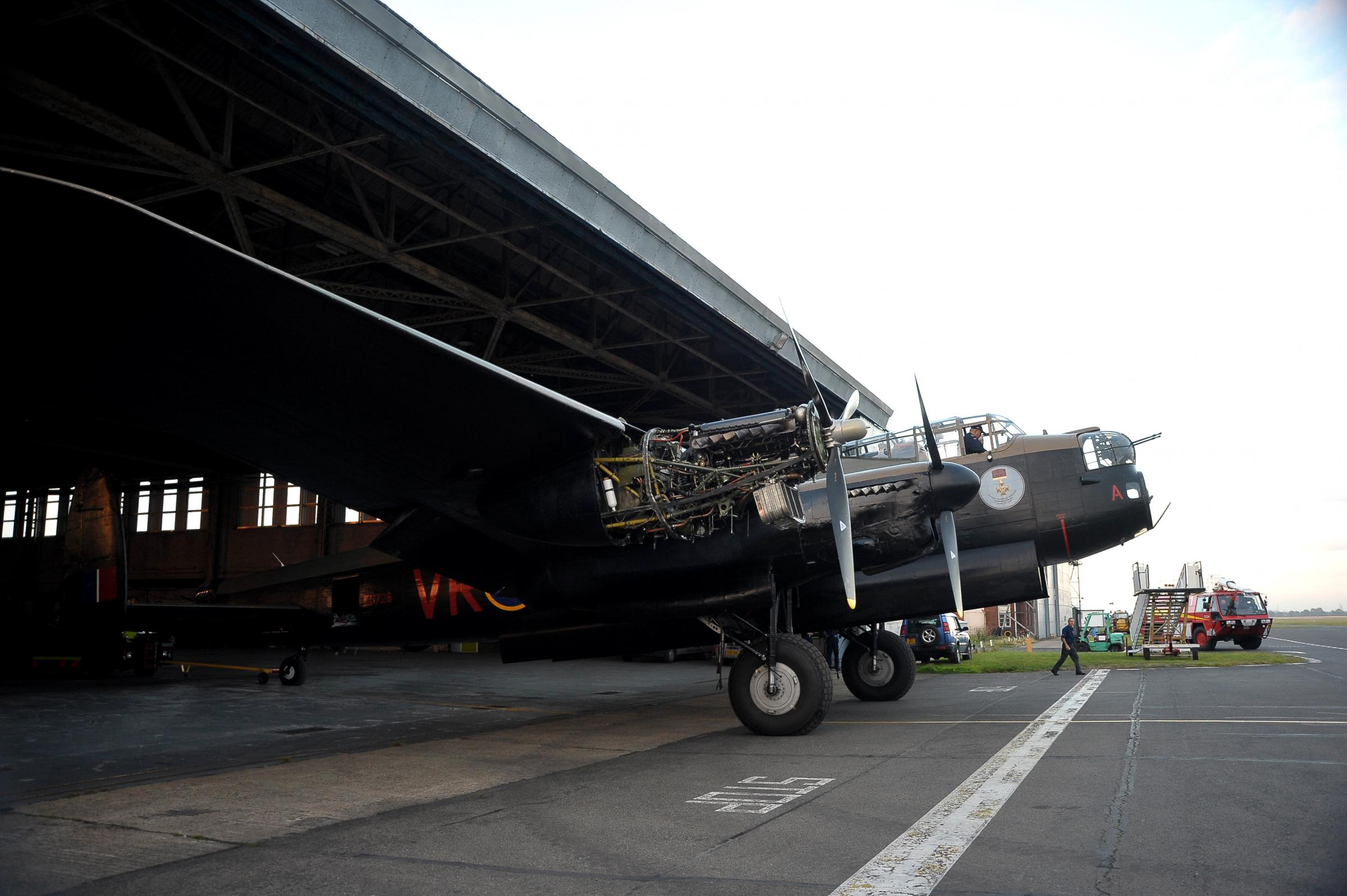 Repaired Lancaster leaves region – five days later than planned