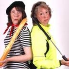 Darlington and Stockton Times: ZUT ALORS: Christine Hooley, left, and Veronica Caperon in Lippy Logic Rides Again
