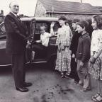 Darlington and Stockton Times: FROM OUR ARCHIVE: It is July 1979 and the end of the school year and Bobby Hutchinson, aged 73, is retiring from his job driving children to Gunnerside school from their remote farmsteads in Swaledale. The children are not identified on our picture. Who w