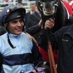 Darlington and Stockton Times: Andrea Atzeni and Kingston Hill after their win in the Ladbrokes St Leger Stakes during day four of the 2014 Ladbrokes St Leger Festival at Doncaster Racecourse, Doncaster. PRESS ASSOCIATION Photo. Picture date: Saturday September 13, 2014. See PA story R