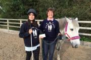 HORSE LOVER: Chelsea Cryer with Alison Parsonage from RDA