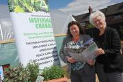 Cath Purdy and Kate Culverhouse at a new community allotment in Middlesbrough. Picture by Doug Moody