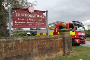 More than 100 firefighters battle fire at historic, Grade II-listed Crathorne Hall