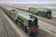 STEAMING AHEAD: Chris Ludlow's painting of the Prince of Wales and Tornado side by side