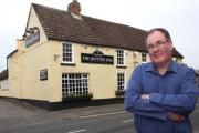 LOSING TRADE: Stephen Grabham outside The Spotted Dog in High Coniscliffe