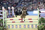 WINNER: Harry Wood riding Birchill Harmony at Olympia last weekend