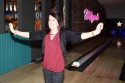 A guest celebrates a strike at the newly refurbished Hollywood Bowl at Teesside Park